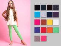 New girls kids children cotton full ankle length leggings age 3/4/5/6/7/8/10/12