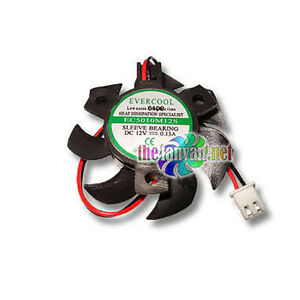 Video Card Replacement Fan 50mm x 10mm For Round Frame Evercool VC-EC5010M12S-B