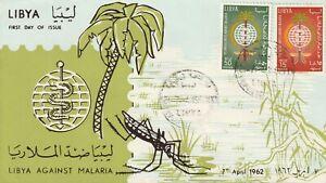 1962 Libya FDC cover Libya Against Malaria