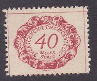 Liechtenstein 1920 - Postage Due - 40h Red - SG D49 - Mint Hinged (E38E)