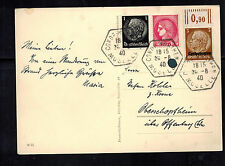 1940 Moselle France Germany Lothringen RPPC Postcard Cover Victory Visit