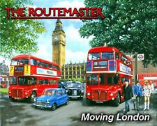 Routemaster London Red Double Decker Bus, Big Ben, Small Metal/Tin Sign, Picture