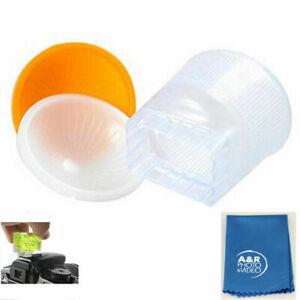 Cloud Lambency Flash Diffuser Orange White Dome Cover for Yongnuo YN560 YN568 ++
