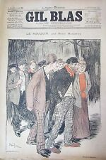 JOURNAL GIL BLAS N° 37 de 1893 MAIZEROY DESSINS de STEINLEN MUSIQUE DELMET