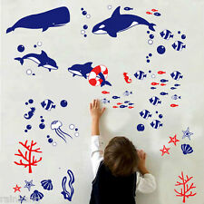 DIY Wall Stickers Fish The Pooh  Nursery kids Baby Bath Room Art Home Decals De