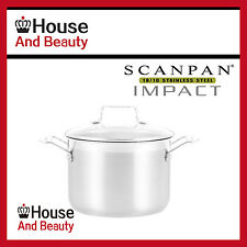NEW Scanpan Impact 18/10 S/Steel Universal Stockpot with Lid 20cm - 4.7L 22039