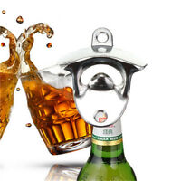 Stainless Steel Wall Mount Bar Wine Beer Soda Glass Cap Bottle Opener Tool BE