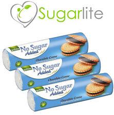 Gullon No Added Sugar / Sugar Free Biscuits Chocolate Creams x 3 packs