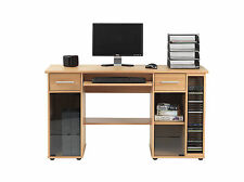 Alphason Office San Miguel Beech Computer Desk Workstation Home Office AW12007