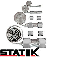 POLISHED STAINLESS STEEL ENGINE HOSE DRESS UP KIT RADIATOR/VACUUM/FUEL/OIL S4