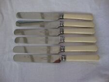VINTAGE SET SIX SHEFFIELD MARSH & CO.FIRTH BREARLEY STAINLESS LONG DINNER KNIVES