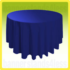 "70"" Inch Round Table Cover Wedding Banquet Event Tablecloth - Royal Blue"