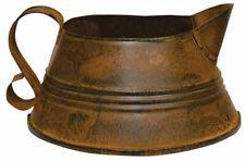 Rusty Fat Kettle Pitcher Can Tin Planter Vase Basket Primitive Farmhouse Decor