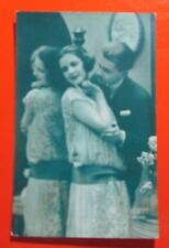 Love Hugs and Mirror , Postcard Posted 1928