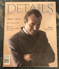 Details Magazine October 1987 - Julio Iglesias