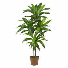 Artificial 48 inches Dracaena Silk Plant Feels Real Touch With Pot 6585 NEW