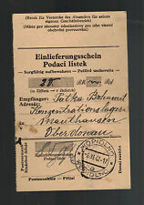 1942 Germany Mauthausen Concentration Camp money order Receipt Bohumit Patka 2