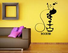 Wall Vinyl Sticker Room Decals Mural Design Hookah Bar Smoke Flavor Rest bo1681