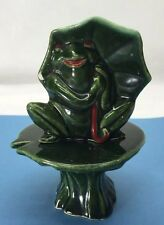 Frog Toad Lily Pad Stacker Anthropomorphic Salt and Pepper Shakers Vintage