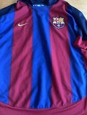 Barcelona Nike Hogar Camiseta De Fútbol Jersey 2003/04 (L) De Colección Retro Camiseta