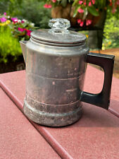 Vintage Worthmore Aluminum 5-Cup Percolator Stovetop Coffee Pot Hunting Camping