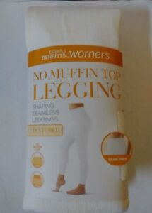 Womens Blissful by Warner's No muffin top leggings size 2X-3X White Textured