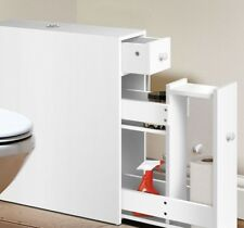 Compact Storage Cabinet next to toilet or tucked away Slim Cablinet