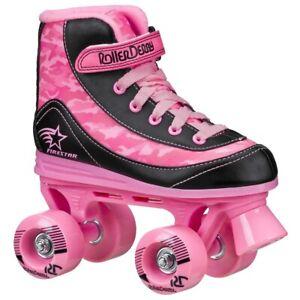 RD Firestar Adults/Childrens Pink Camo V2 Quad Roller Skates UK11J