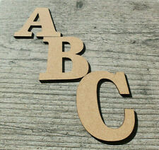 Wooden Letters Craft Bold Large 3-30cm (3mm Thick) MDF Plaques Signs Wall Decor