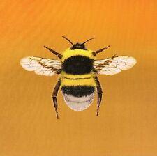 TEX EX ORIGINAL BRITISH FLORA & FAUNA BUMBLEBEE BEE CUSHION PANEL GOLD VELVET