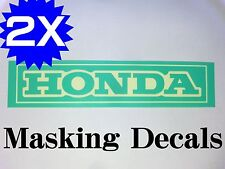 ×2P HONDA MASKING DECAL STICKER DIE CUT CB750K0 K1 350 250 four HAWK Fuel tank