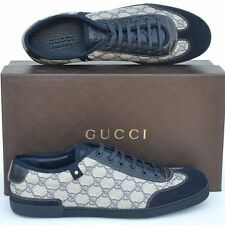 GUCCI New sz 16 G - US 16.5 Authentic Guccissima GG Mens Sneakers Shoes Blue