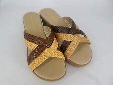 Carosello Brown Woven Wedge sandals UK 4 EU 37 LN18 72