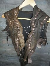 Sexy Genuine Leather Vest Jacket Ladies Motorcycle Rivets Rock Chick Mad Max