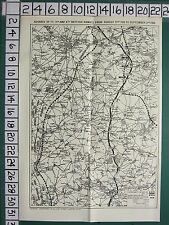 WWI WW1 MAP ~ ADVANCE 1st 3rd & 4th BRITISH ARMIES AUGUST 21 (1918) LINES CORPS