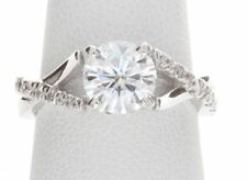 2Ct Brilliant Round Moissanite Engagement & Promise Ring In 925 Sterling Silver