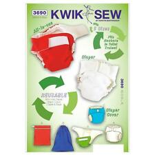 KWIK SEW SEWING PATTERN BABY NAPPY DIAPERS, NAPPY DIAPERS COVER INSET BAGS K3690