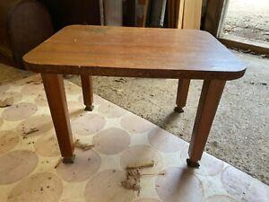 Vintage Small Teak Coffee Table Detachable Legs 16x12.5in 41x32cm
