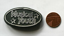 MUSICAL YOUTH Old/Vtg 1980`s Shaped Plastic Pin Badge(not shirt patch lp cd)
