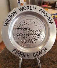 "WILSON WORLD PRO-AM PEBBLE BEACH WILTON PEWTER PLATE 10 7/8"""