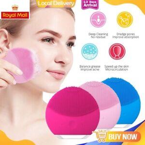 Facial Silicone Electric Face Cleansing Brush Skin Cleaner Cleaning Massager