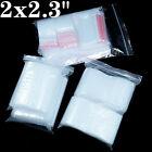 300+Bags+%7E2x2%22+Clear+Zip+Bag+Pill+1Mil+Top+Seal+Plastic+Reclosable+Poly+Zipper