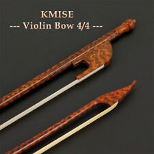 Baroque Style 4/4 Full Size Violin Bow Straight Back Round Stick Frog Horse Hair