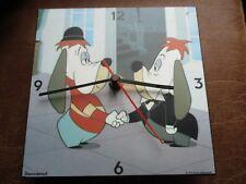 Droopy --Ancienne horloge en bois-Démons&merveilles-Fonctionne-Années 90