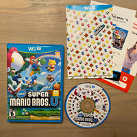 New Super Mario Bros. U (Wii U, 2012) Complete w/ Manual - TESTED and WORKING!