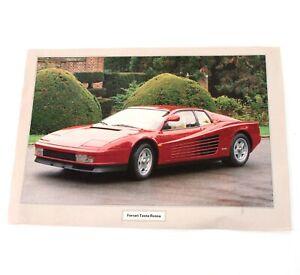 Ferrari Testa Rossa Poster 1984 Dutch Release Original Vintage  M540