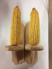 Two Handmade Cedar Squirrel Corn Feeders