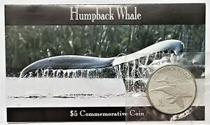 1993 Marshall Islands Humpback Whale $5 Commemorative Coin