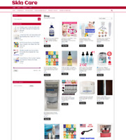 SKIN CARE WEBSITE WITH NEW DOMAIN & 1 YEARS HOSTING