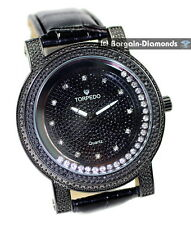 mens black diamond ice time out clubbing business watch black dial race